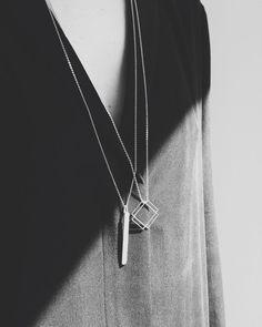 Geometric Pendants - minimalist jewellery // Anna Lawska