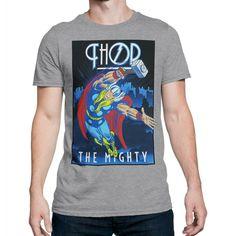 Thor Roaring Thunder Mens T-Shirt Heather Grey  - Thunder - Ideas of Thunder gift #Thundergift Thunder And Lightning, Thor, Heather Grey, Boys, Mens Tops, Cotton, T Shirt, Marvel, Clothes