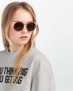 ROUND METALLIC SUNGLASSES-Sunglasses-ACCESSORIES-WOMAN | ZARA United States
