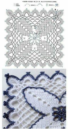Transcendent Crochet a Solid Granny Square Ideas. Inconceivable Crochet a Solid Granny Square Ideas. Crochet Motif Patterns, Granny Square Crochet Pattern, Crochet Blocks, Crochet Diagram, Crochet Chart, Crochet Squares, Thread Crochet, Crochet Stitches, Free Crochet