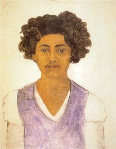 Frida Kahlo Self Portrait Mexico, 1922 by Frida Kahlo on Curiator, the world's biggest collaborative art collection. Diego Rivera, Pantomime, Kahlo Paintings, Frida And Diego, Albert Bierstadt, Digital Museum, Collaborative Art, Naive Art, Mexico City