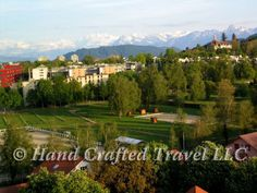 Travel Picture: Day 243. In Bern, Switzerland, looking towards the mountains of the Berner Oberland.