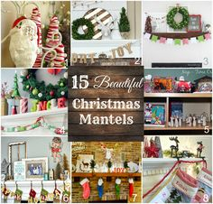 My Christmas Mantel - My Love of Vintage and Gold plus 14 other amazing mantels to inspire! #ad #personalizationinspiration