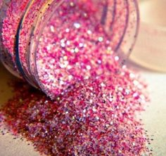 Pink sparkles just pour it on yourself and your ready for western shows
