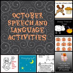 A round-up of perfect October speech-language activities that I've posted over the years. Click on each numbered picture below to get to the original post. Each post contains fun ideas for speech a...