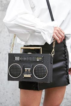 Radio Box Bag and 🛍️ Purses and Bags Unique Handbags, Fall Handbags, Popular Handbags, Unique Purses, Cute Handbags, Unique Bags, Cute Purses, Purses And Handbags, Leather Handbags