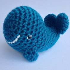 Whale Crochet  Plush Whale  Soft Crochet Toys  by TheSimplyHooked