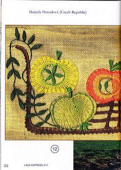 renda de bilros / bobbin lace Plantas + Arvores / Plants + Trees