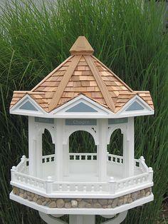 Bandstand Gazebo Bird Feeder. This is what a $360.00 Bird Feeder looks like.