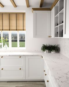 Silestone White Arabesque Color sold at Home Depot Could also be pretty with blue grey cabinet