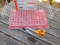 Using plastic placemats to line wire items in rat cage