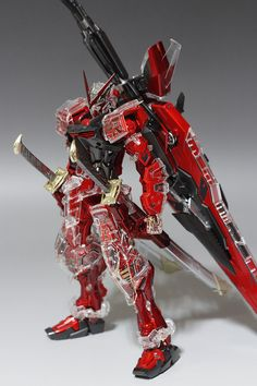 GUNDAM GUY: MG 1/100 MBF-P02Kai Gundam Astray Red Frame - Clear & Metallic Modified Build