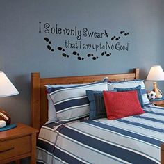 I am up to No Good Harry Potter Wall Sticker Bedroom English Words Quote Decoration (Large,Custom) by WallsUp