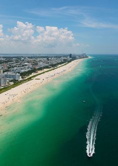 South Beach (Miami Beach, Florida) - boating is one of the best ways to see more of South Florida, and we have incredible fishing here, too!