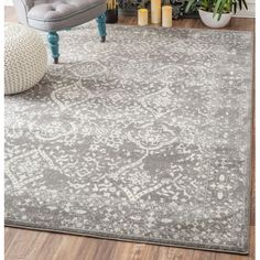 Found it at Wayfair Supply - Vintage Mabelle Silver Area Rug