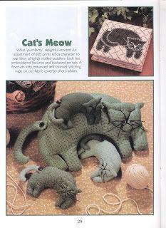 TudoProArtesanato: Gatinhos em feltro ou tecido