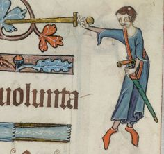 Psalter ('The Luttrell Psalter') with calendar and additional material 1325-1340 Add MS 42130 Folio 54r
