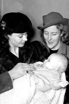 Vivien Leigh, with her goddaughter, Juliet Mills