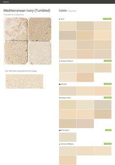 Click the gray Visit button to see the matching paint names. Ppg Paint, Valspar Paint, Paint Matching, Best Paint Colors, Behr, Stone Tiles, Travertine, Benjamin Moore, Porcelain Tile