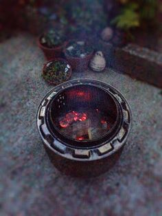 Washing machine drum fire pit. A lot of work but worth it. Now to get cooking on this beauty.