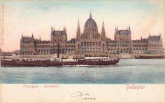 Ungheria-Budapest-Tema: Barche-Navi-Porti-V.1903x Palermo-Sicilia. Francobollo asportato.    Transport >  Ships > Other