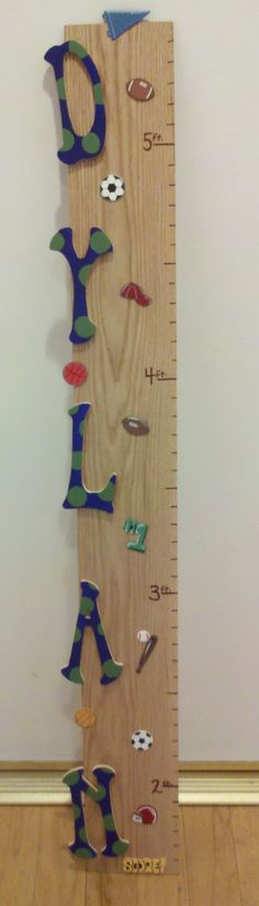 Growth chart... baby shower gift for my best friend :) just hang 18 inches off the ground!