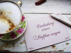 """Einladungen - Postkarte """"Einladung zum Kaffee"""" - ein Designerstück von alinea bei DaWanda"""