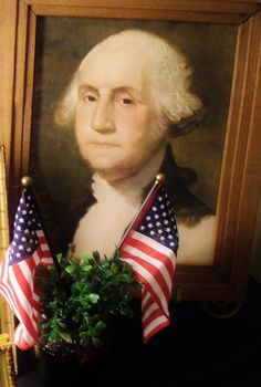 Old schoolhouse portrait of George Washington.
