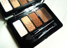#Guerlain Herbst Kollektion 2016 - 5 Couleurs Lidschatten Palette in 02 Tonka Impériale und den Foundation Brush