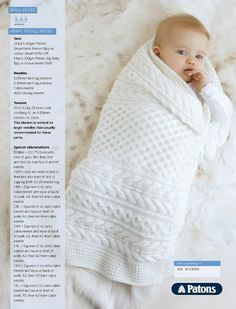 Cabled Baby Blanket Pattern ~ Knitting Free