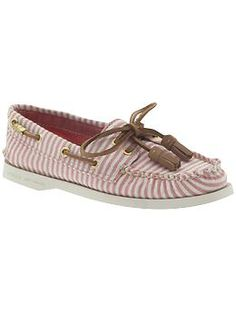 Sperry. Pink stripes.