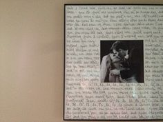 First Dance Lyrics written on the matte surrounding a First Dance Photo. This frame was only $5 at Michael's (after coupon)... Amazing treasure to create!