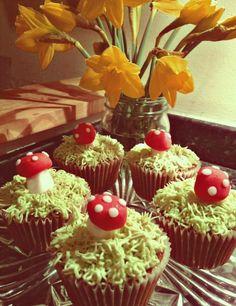 Mushroom themed Cupcakes.