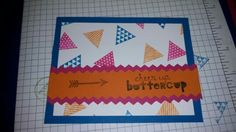 Stampin Up: Geometrical set. Pacific Point, Melon Mambo, Pumpkin Pie
