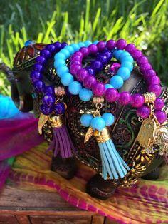 Awesome bohemian prayer beaded bracelets! Only $12 each on Etsy