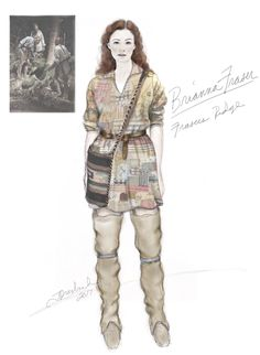 I usually costume Claire from Outlander, and I have outfits from the first 3 seasons. But in season a costume worn by Brianna (Bree) caught my eye, and I started working on it before the first e… Outlander Season 4, Serie Outlander, Outlander Funny, Outlander Knitting, Diana Gabaldon, Costume Design Sketch, Terry Dresbach, Drums Of Autumn, Linen Shirt Dress