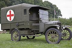 History of the ambulance - Wikipedia, the free encyclopedia (Ford 1916 Model T Field Ambulance used in WW1)