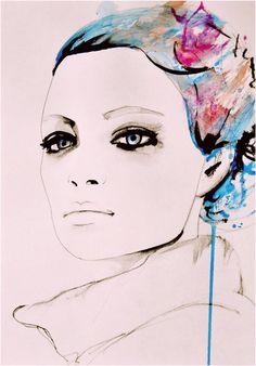 Love the color. #sketch #fashion #portrait