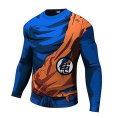 Goku Kame Symbol Armour Long Sleeve - Visit now for 3D Dragon Ball Z compression shirts now on sale! #dragonball #dbz #dragonballsuper