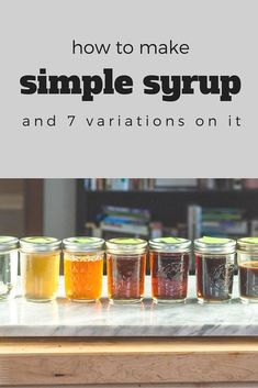 How to Make Simple Syrup (and 7 variations on it) How to Make Simple Syrup. A lesson on how to make the essential cocktail ingredient, as well as variations on the basic simple syrup. – Cocktails and Pretty Drinks Simple Syrup For Cakes, Make Simple Syrup, Make It Simple, Simple Syrup For Cocktails, Simple Syrup Recipe Drinks, Triple Sec, Easy Mixed Drinks, Cocktail Syrups, Cocktails