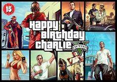 GTA V Grand Theft Auto 5 Unique Personalised Birthday Card A5