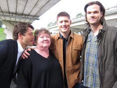 S.E Hinton, author of The Outsiders, with Misha and J2
