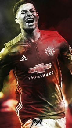 Manchester United | Red Devils | #ManUtd Soccer Art, Love And Basketball, Pogba Manchester, Man Utd Fc, Manchester United Players, Marcus Rashford, Simply Red, Football Wallpaper, Man United