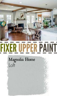 Fixer Upper Paint Color Loft. the best Silver Gray.
