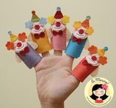 Dedoches do circo da Isabella by Ei menina! - Érica Catarina, via Flickr
