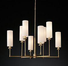 Cortona Chandelier Antique Brass | RH Modern
