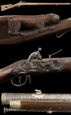 A magnificent two shot superimposed-load silver-mounted Flintlock Sporting Gun from the personal armoury of Tipu Sultan, by Asad Khan-e Muhammad Seringapatam, dated Mawludi 1222/ AD 1793-94. Presented to Lord Cornwallis after the Fall of Seringapatam, 1799.