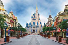 Cinderella's Castle down Main Street, Magic Kingdom, WDW.--there are NO words!
