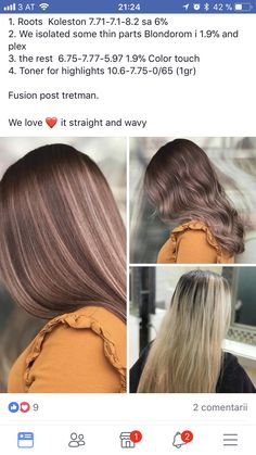 Hair - Helena Gruslack - Make-Up Hair Color Wheel, Cool Hair Color, Color Your Hair, Cut My Hair, Love Hair, Balayage Hair, Ombre Hair, Hair Color Formulas, Hair Toner