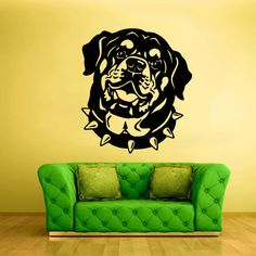 Wall Decals Vinyl Sticker Animals Dog rottweiler Head Face (z2438) on Etsy, $28.99